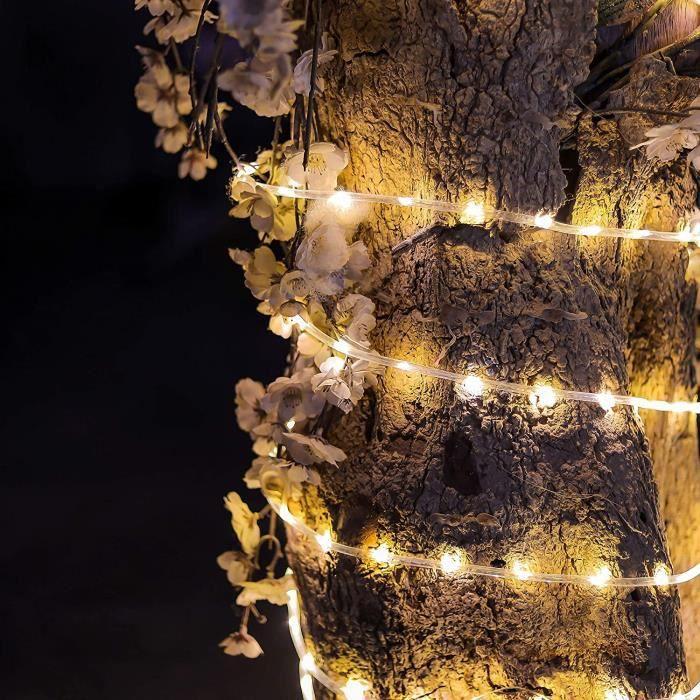 Guirlande Tube Lumineuse d'extérieur 200 LED avec minuteur et 8 modes – 10m - Avec prise secteur non alimentée par piles - Tuyau lum