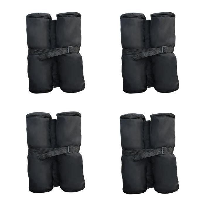 Lot 4 sacs de lestage de fixation pour tonnelle parasol pavillon volume max. 15kg noir 55