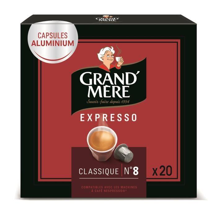 Grand-mère Café Capsules Espresso Classiques x20, en aluminium compatibles avec le système Nespresso - 104g