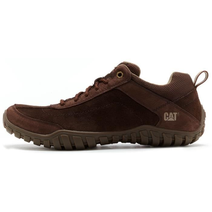 Caterpillar Basket basse Toile Homme Marron