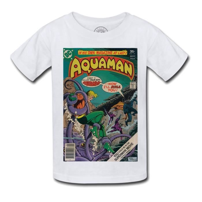 T-shirt Enfant Aquaman Bande Dessinee Comics Super Hero no 57
