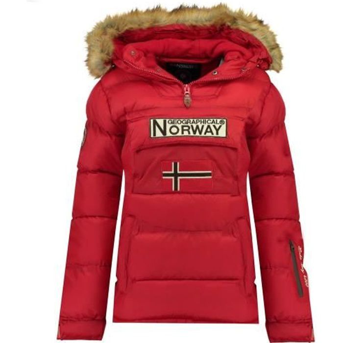 Doudoune Femme Geographical Norway Belancolie Rouge