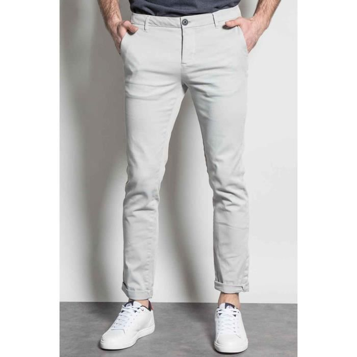 DEELUXE Pantalon chino slim KAELIG Light Grey