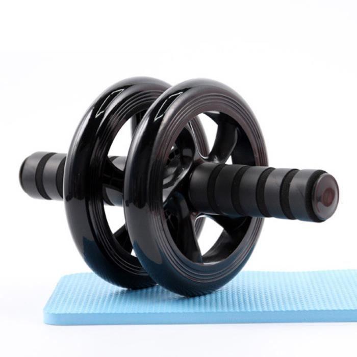 DAMILY® Roue abdominale AB Roller Roue de fitness Équipement de fitness à domicile Pour le fitness et l'entraînement musculaire