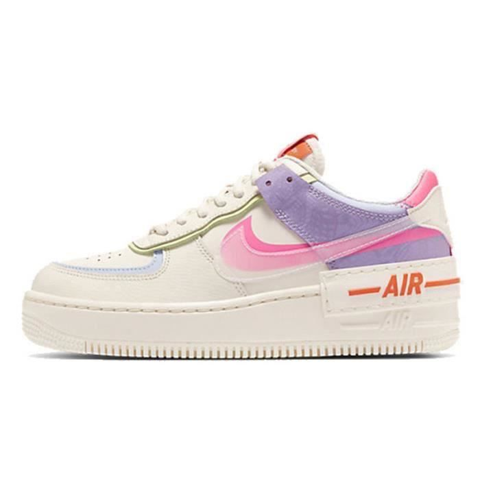 Basket Air Force 1 Shadow Air Force One AF 1 Low Chaussures de Running Femme CU3012-1164