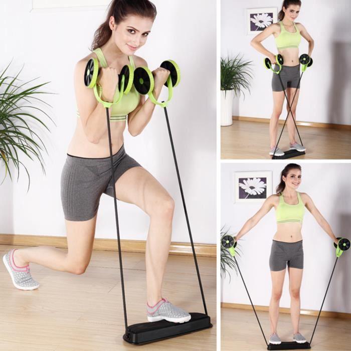 Roue à abdos abdominale roulette abdominaux appareil de fitness exercice