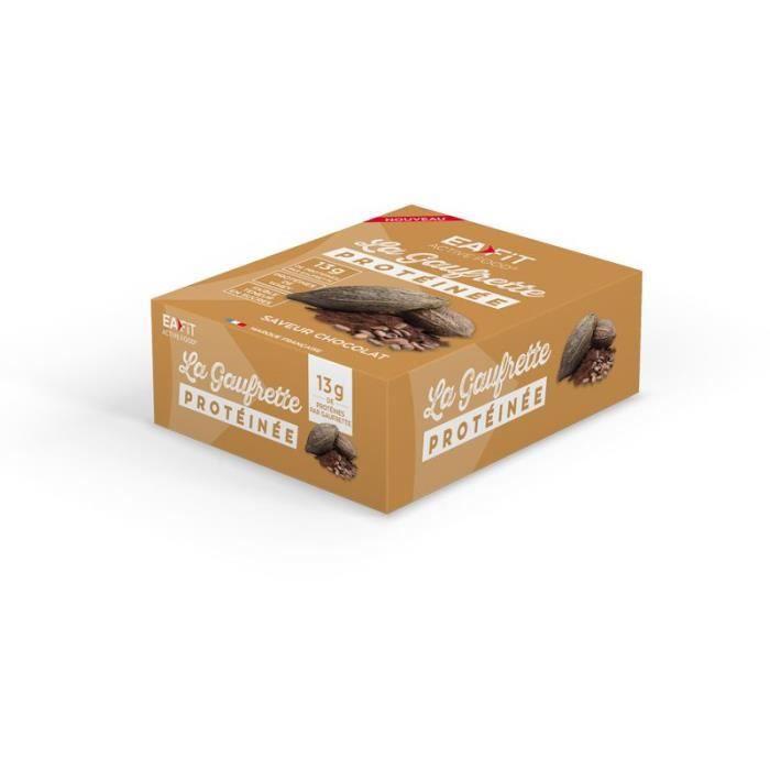 EAFIT La gaufrette protéinée Chocolat - Présentoir x12 gaufrettes 40 g