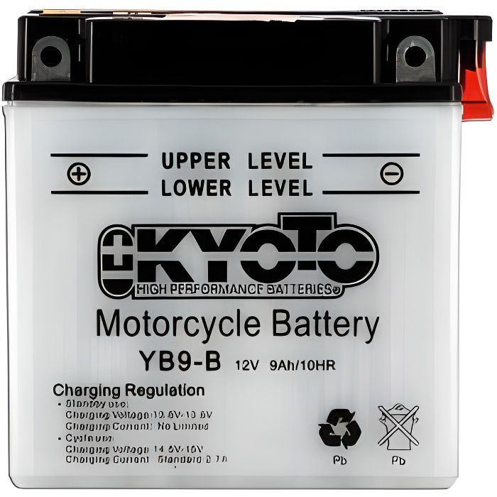 KYOTO - Batterie moto - Yb9-b - L 137mm W 76mm H 140mm