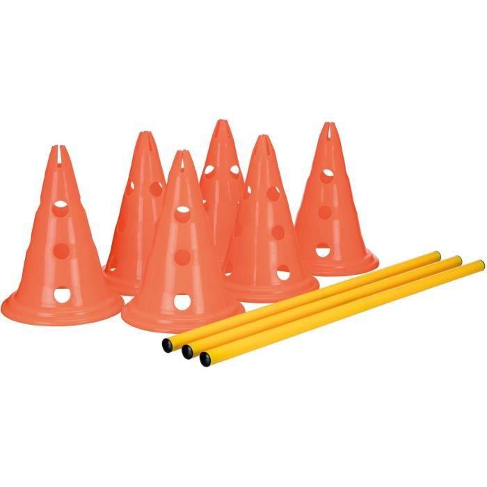 TRIXIE Lot de 3 Activités d'obstacle - Ø 23 × 30 cm - 78 cm - Orange et jaune - Pour chien
