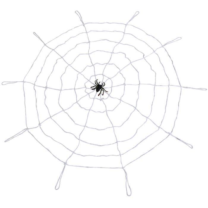 TRIXES Toile d'Araignée Blanche Sinistre Effrayante Géante Halloween