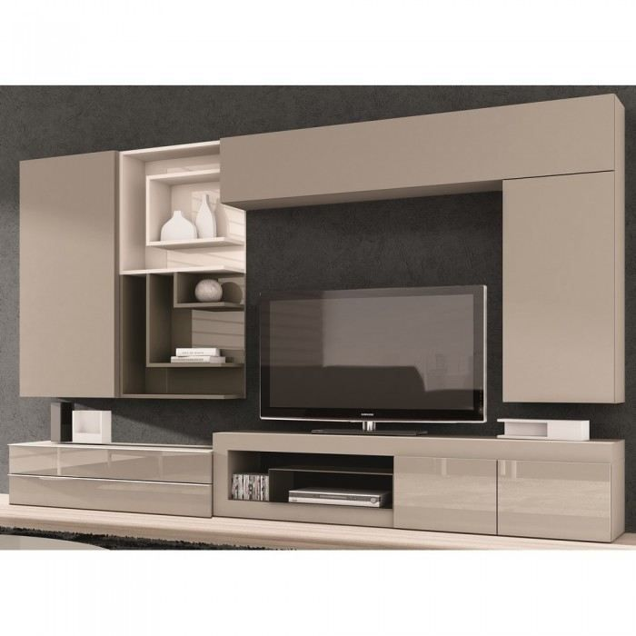 meuble tv couleur taupe maison design. Black Bedroom Furniture Sets. Home Design Ideas
