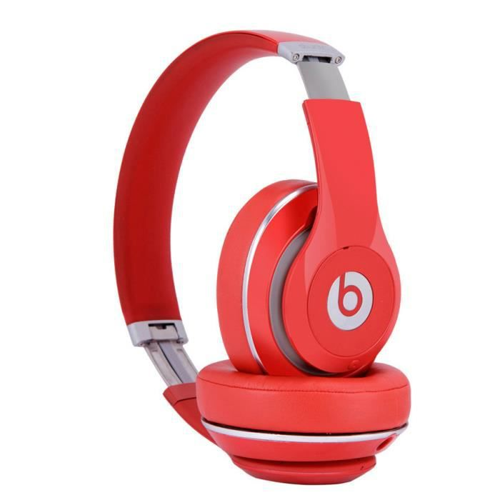 rouge casque headphones beats studio 2 0 sans fil. Black Bedroom Furniture Sets. Home Design Ideas