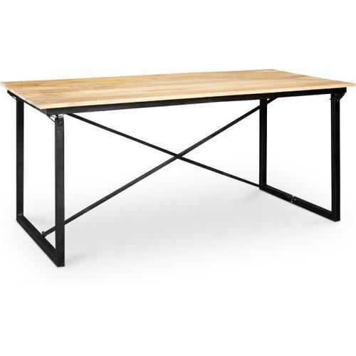 table manger 180cm onawa style industriel vintage bois. Black Bedroom Furniture Sets. Home Design Ideas