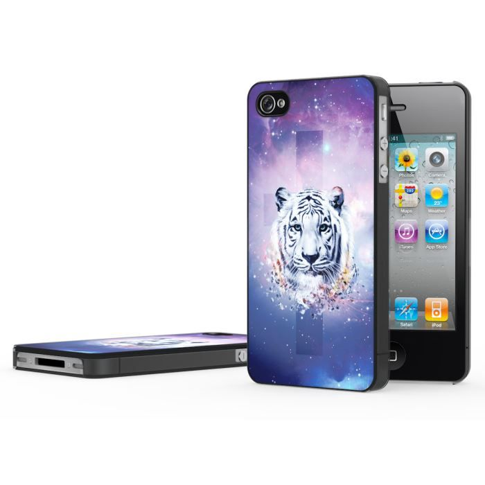 coque iphone 4 4s swag series white tiger