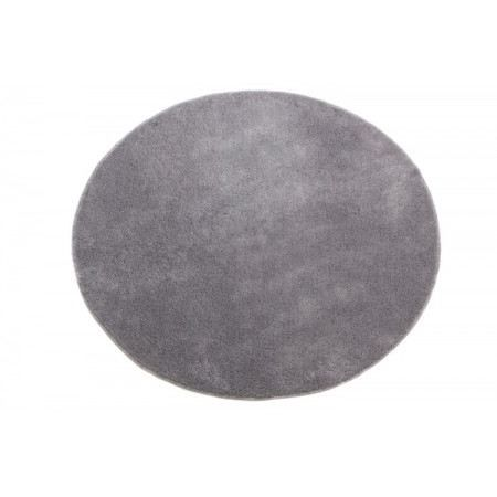 tapis rond 120x120 cm gris achat vente tapis cdiscount. Black Bedroom Furniture Sets. Home Design Ideas