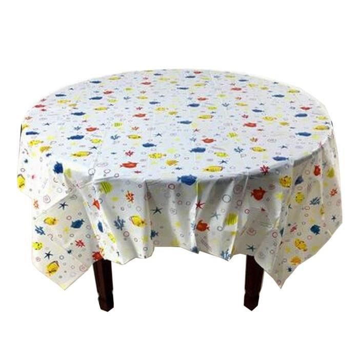 Plastique Table Nappe Tablecovers jetables nettoyage Fête Nappe rectangle