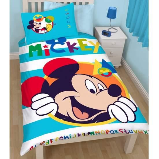 parure de lit mickey 1 personne table de lit a roulettes. Black Bedroom Furniture Sets. Home Design Ideas