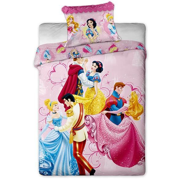 housse de couette princesses disney dancing pou achat vente housse de couette cdiscount. Black Bedroom Furniture Sets. Home Design Ideas