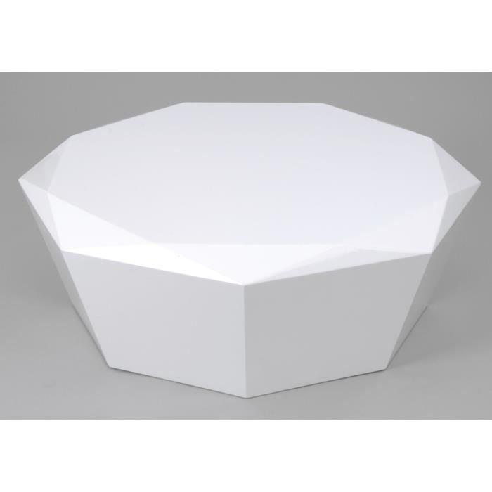 table basse diamant blanc laque %C3%B8100
