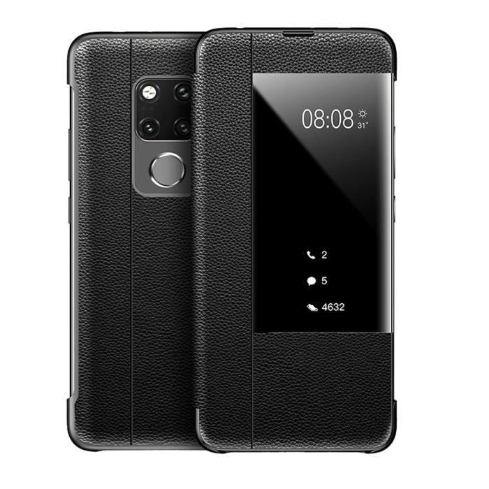 Coque Huawei Mate 20 X Étui Cuir Rabat Housse de P