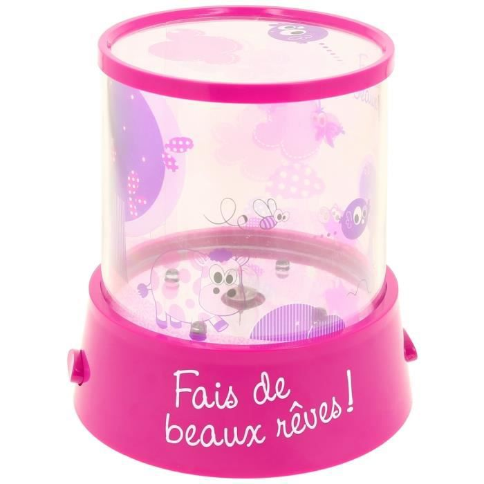 lampe veilleuse led enfant projecteur mur ludiq rose achat vente veilleuse b b. Black Bedroom Furniture Sets. Home Design Ideas