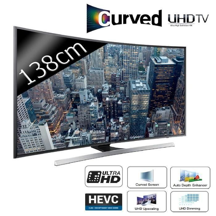samsung ue55ju7500 smart tv uhd 4k curved 3d 138cm t l viseur led prix pas cher soldes d. Black Bedroom Furniture Sets. Home Design Ideas