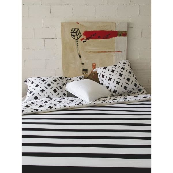 sisomdos housse de couette paris 140x200 cm noir et blanc achat vente housse de couette. Black Bedroom Furniture Sets. Home Design Ideas