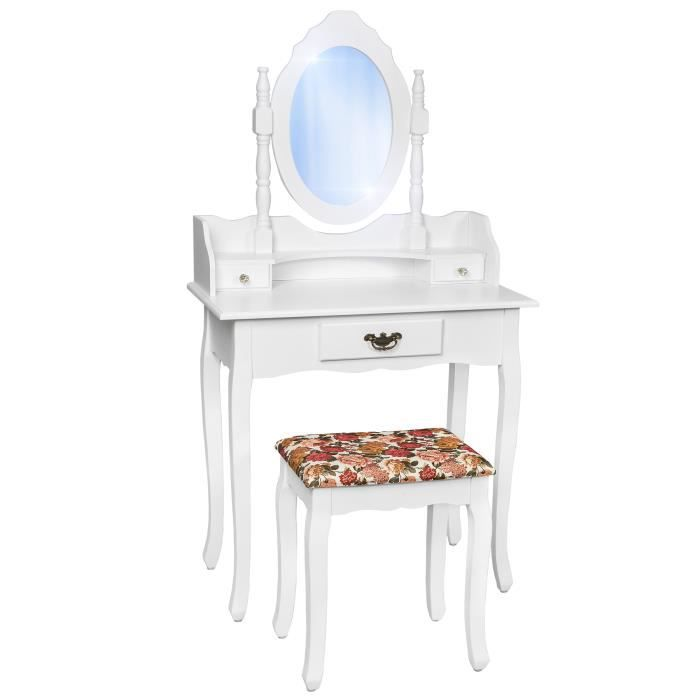 Coiffeuse meuble table de maquillage secr taire commode for Meuble coiffeuse ikea