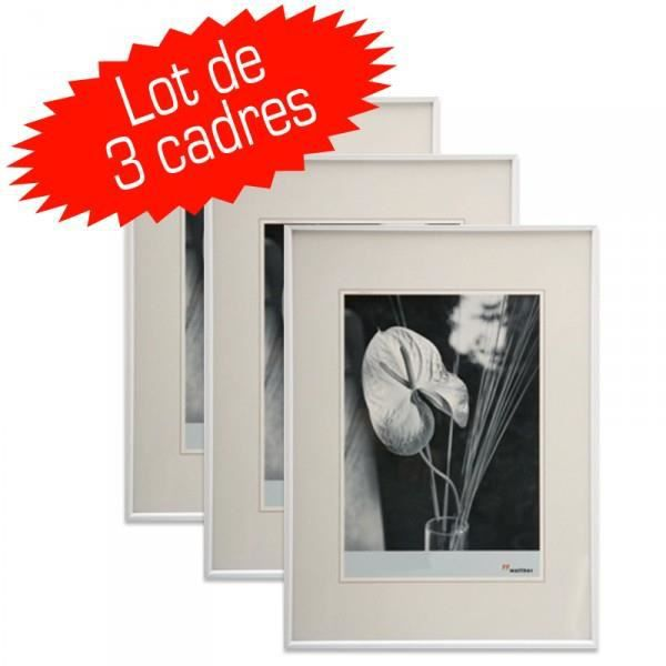 lot de 3 cadres photos galeria 10x15 cm blanc achat vente cadre photo cdiscount. Black Bedroom Furniture Sets. Home Design Ideas