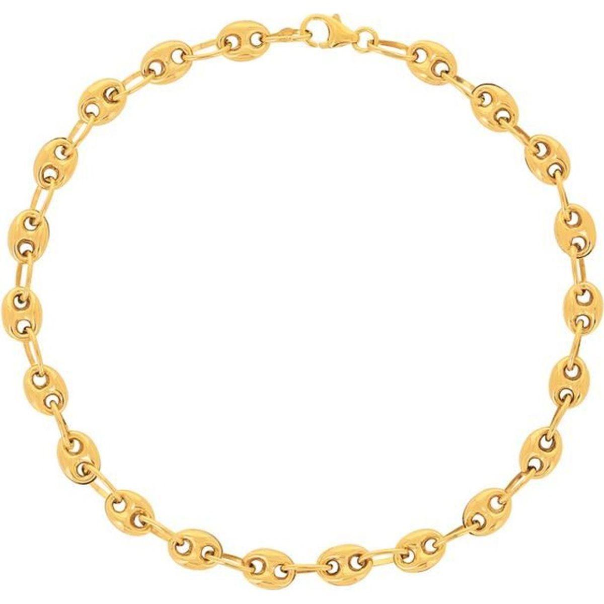 BRACELET - GOURMETTE Bracelet Grain de Café Or 18 Carats