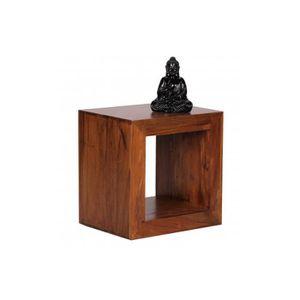 MEUBLE ÉTAGÈRE Cube rayonnages étagère bois palissandre 44x44x33c