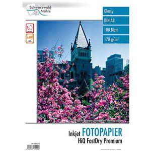 PAPIER PHOTO 100 feuilles papier photo brillant A3 - 170 G