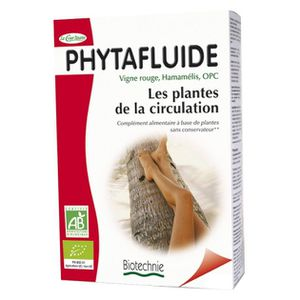 CIRCULATION SANGUINE Phytafluide BIO - 60 comprimés HAMAMELIS, VIGNE…