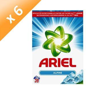 LESSIVE ARIEL Lot de 6 lessives en poudre Alpine - 39 dose