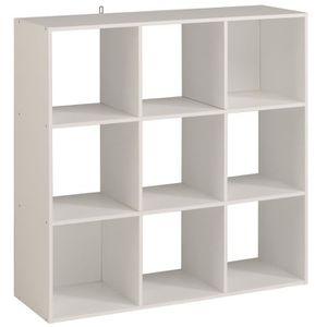 MEUBLE ÉTAGÈRE KAME Étagère meuble contemporain décor blanc mat -