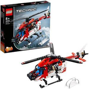 ASSEMBLAGE CONSTRUCTION LEGO® Technic 42092 L'hélicoptère de secours - Jeu