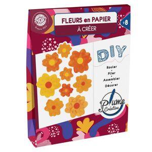 AGENDA - ORGANISEUR PLUME CREATIVE Création fleur en papier - Orange e