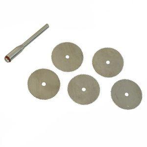 5pcs 25mm Disque De D/écoupe Diamant Meulage Aiguiseur Disques Abrasifs avec 1 pc Connexion Tige pour Dremel Outils Rotatifs