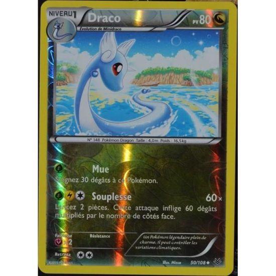 Carte Pokémon 50 108 Draco 80 Pv Reverse Xy 6 Ciel