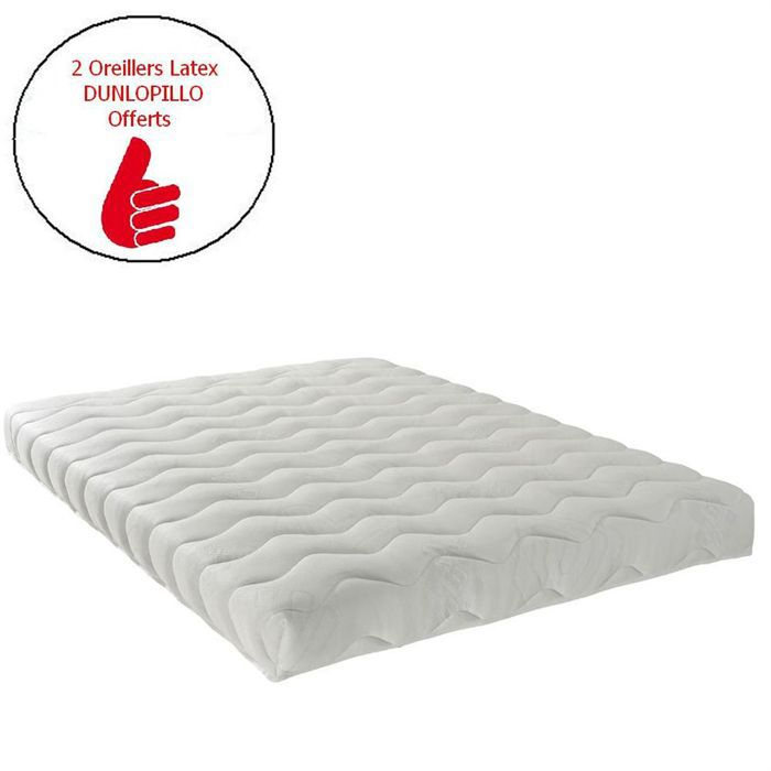 dunlopillo matelas 140x190 latex achat vente matelas. Black Bedroom Furniture Sets. Home Design Ideas
