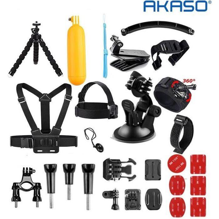 AKASO 2019 Caméra Sport Accessoires 14 en 1 Pack pour Gopro Hero AKASO EK7000 Brave 4 V50 Pro EK7000 Pro V50 Elite Vision3/4