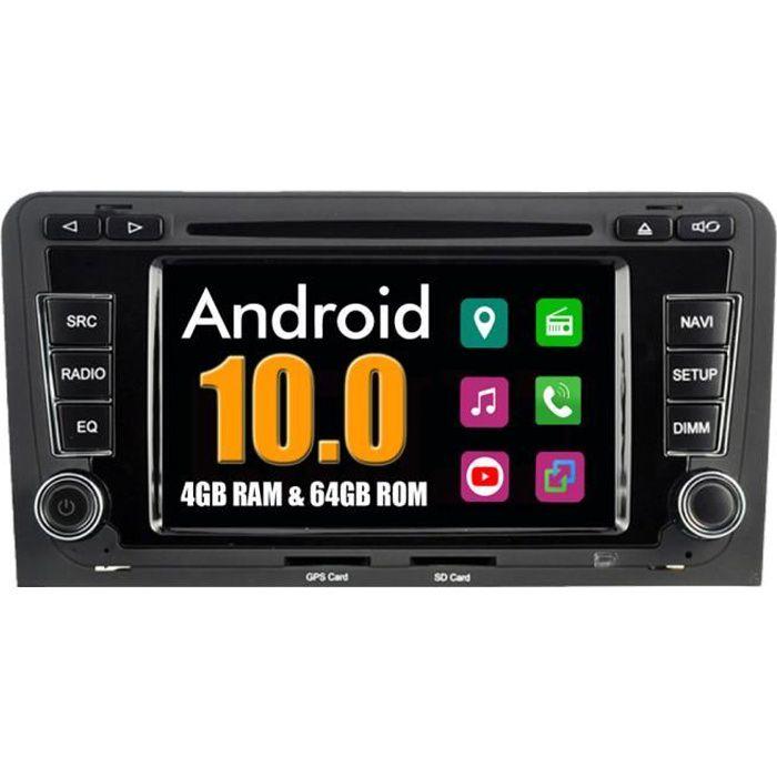 Autoradio Bluetooth GPS Navigation pour Audi A3 S3 RS3 2002-2011 Android Stéréo DVD MirrorLink WiFi