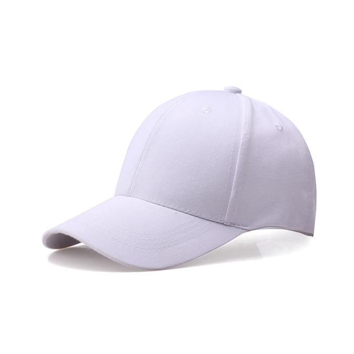 10pcs CASQUETTE Homme Femme Chapeau de Soleil Voyage de Plein Air Blanc