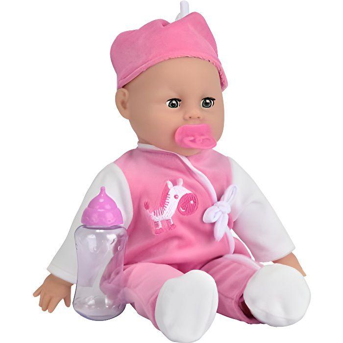 Simba - 105140488 - Poupée Enfant - Laura Poupon Parle - 24 Sons - Yeux Dormeurs - 38 Cm 105140488