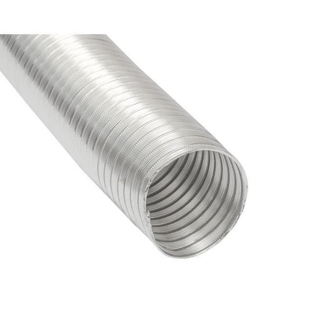 Gaine Aluminium Ø150mm pour hotte extracteur air aérateur climatiseur - 3m Tuyau en Alu flexible résistant à la chaleur