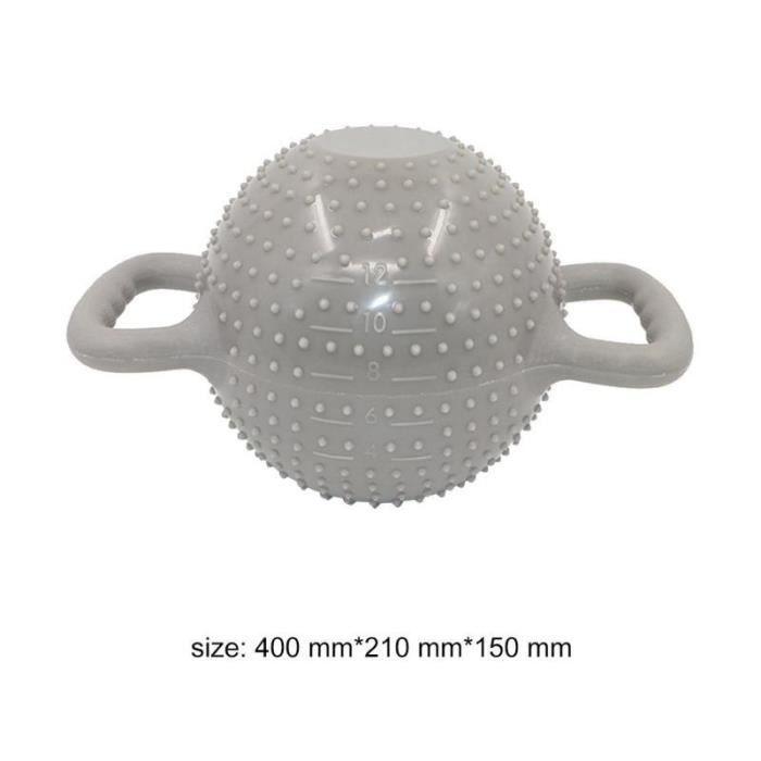 Yoga Fitness bouilloire cloche 4-12LB réglable eau Kettlebell haltère Double poignées Pilate exercice - Modèle: Beige -