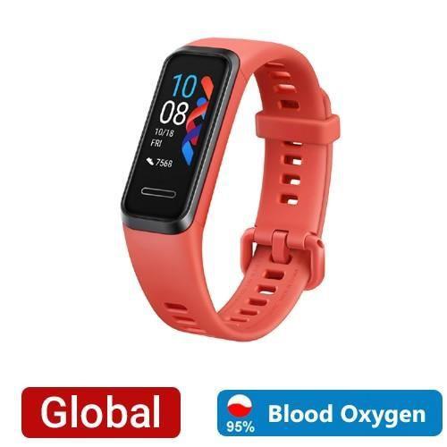 Huawei – bracelet connecté Band 4, avec prise USB, capteur d'activité physique avec suivi du rythme cardiaque et Orange -JEAI2110
