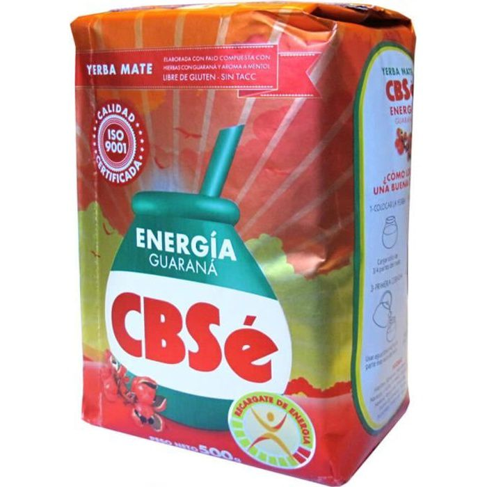 Yerba Mate CBSé Energie de guarana 500g