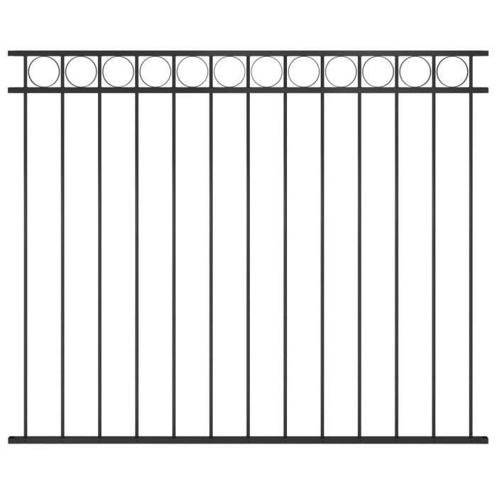 ♫5465 Brise vue - Clôture de jardin Brise vue Classique Acier 1,7x1,5 m Noir MMCZ®