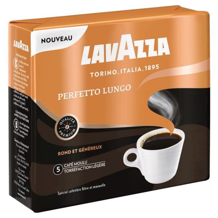 LAVAZZA Lot de 2 Cafés moulu Intense - 250G